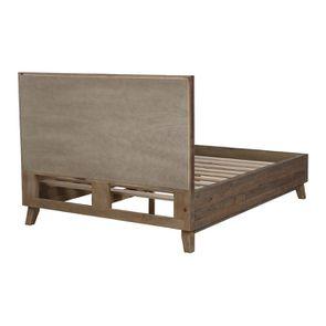 Lit 140x190 en bois recyclé naturel grisé - Empreintes - Visuel n°4