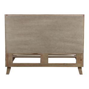 Lit 140x190 en bois recyclé naturel grisé - Empreintes - Visuel n°5