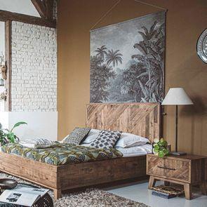 Table de chevet en bois recyclé - Empreintes - Visuel n°3