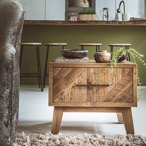 Table de chevet en bois recyclé - Empreintes - Visuel n°6