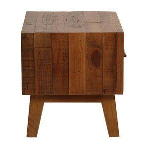 Table de chevet en bois recyclé - Empreintes - Visuel n°10