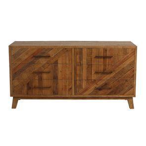 Commode 6 tiroirs en bois recyclé - Empreintes