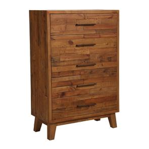 Commode chiffonnier en bois recyclé - Empreintes - Visuel n°6