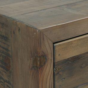 Commode chiffonnier en bois recyclé naturel grisé - Empreintes - Visuel n°10