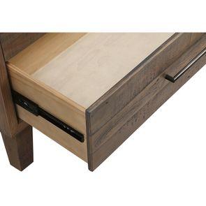 Commode chiffonnier en bois recyclé naturel grisé - Empreintes - Visuel n°11