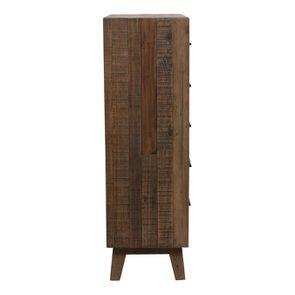Commode chiffonnier en bois recyclé naturel grisé - Empreintes - Visuel n°5