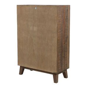 Commode chiffonnier en bois recyclé naturel grisé - Empreintes - Visuel n°6