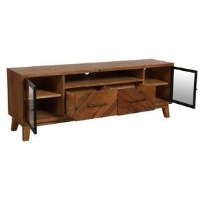 Meuble TV en bois recyclé - Empreintes - Visuel n°4