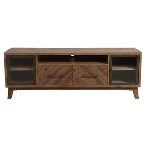 Meuble TV en bois recyclé naturel grisé - Empreintes
