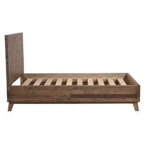 Lit enfant 90x190 en bois recyclé naturel grisé - Empreintes