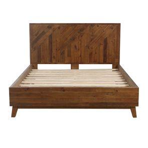 Lit 160x200 en bois recyclé - Empreintes - Visuel n°6