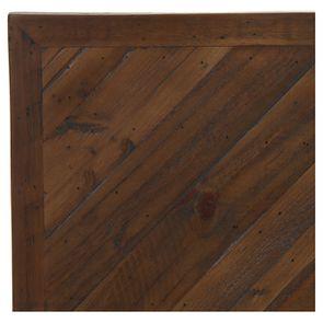 Lit 160x200 en bois recyclé naturel grisé - Empreintes - Visuel n°8