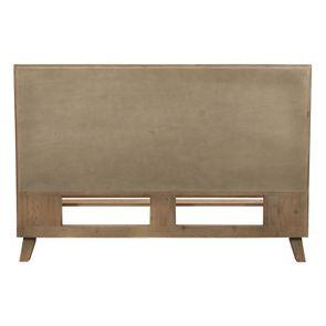 Lit 160x200 en bois recyclé naturel grisé - Empreintes - Visuel n°5