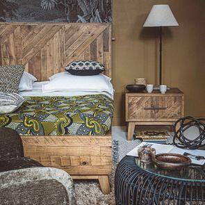 Lit 180x200 en bois recyclé - Empreintes - Visuel n°4