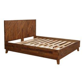 Lit 180x200 en bois recyclé - Empreintes - Visuel n°5