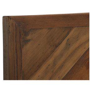 Lit 180x200 en bois recyclé naturel grisé - Empreintes - Visuel n°7