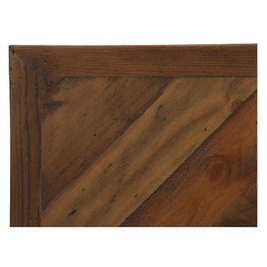 Lit 180x200 en bois recyclé naturel grisé - Empreintes - Visuel n°8