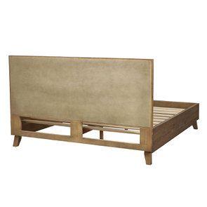Lit 180x200 en bois recyclé naturel grisé - Empreintes - Visuel n°4