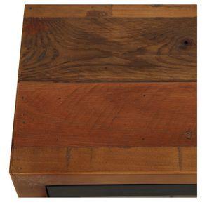 Meuble TV en bois recyclé 1 tiroir - Empreintes - Visuel n°8
