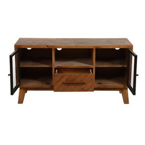 Meuble TV en bois recyclé 1 tiroir - Empreintes - Visuel n°2