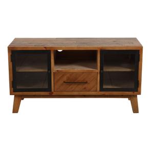 Meuble TV en bois recyclé 1 tiroir - Empreintes