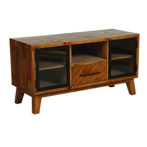 Meuble TV en bois recyclé 1 tiroir - Empreintes - Visuel n°4