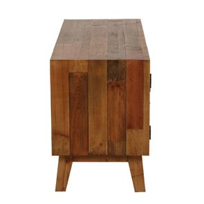Meuble TV en bois recyclé 1 tiroir - Empreintes - Visuel n°5