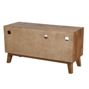 Meuble TV en bois recyclé 1 tiroir - Empreintes - Visuel n°6