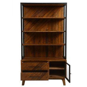 Bibliothèque en bois recyclé - Empreintes - Visuel n°2