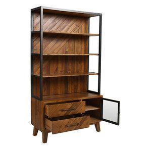 Bibliothèque en bois recyclé - Empreintes - Visuel n°3