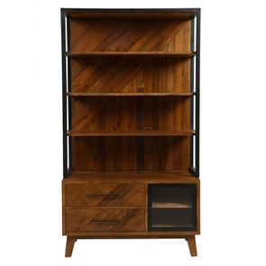 Bibliothèque en bois recyclé – Empreintes