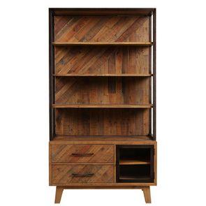 Bibliothèque en bois recyclé - Empreintes