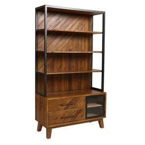 Bibliothèque en bois recyclé - Empreintes - Visuel n°4