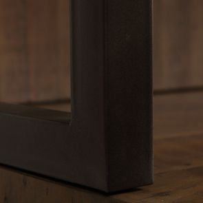 Bibliothèque en bois recyclé naturel grisé - Empreintes - Visuel n°10