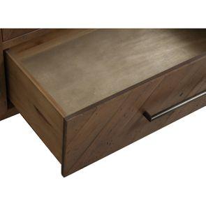 Bibliothèque en bois recyclé naturel grisé - Empreintes - Visuel n°11