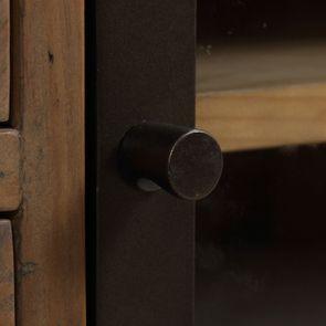 Bibliothèque en bois recyclé naturel grisé - Empreintes - Visuel n°12