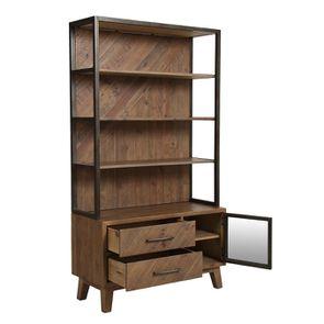 Bibliothèque en bois recyclé naturel grisé - Empreintes - Visuel n°3