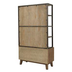Bibliothèque en bois recyclé naturel grisé - Empreintes - Visuel n°6