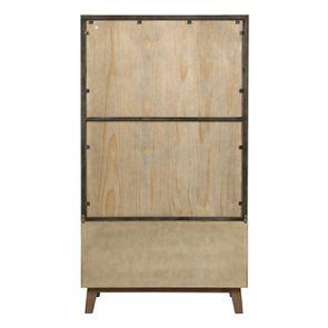 Bibliothèque en bois recyclé naturel grisé - Empreintes - Visuel n°7