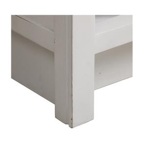 Meuble pour évier en bois recyclé blanc - Rivages - Visuel n°12