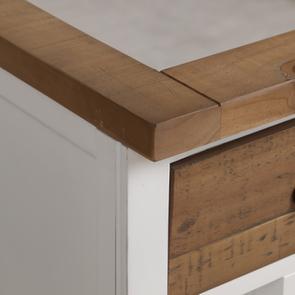 Meuble pour évier en bois recyclé blanc - Rivages - Visuel n°14