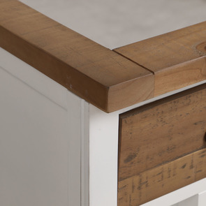 Meuble pour évier en bois recyclé blanc - Rivages - Visuel n°15