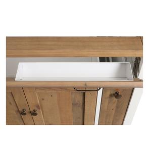 Meuble pour évier en bois recyclé blanc - Rivages - Visuel n°18