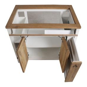 Meuble pour évier en bois recyclé blanc - Rivages - Visuel n°6