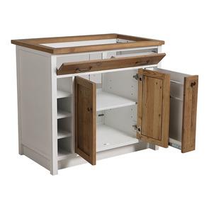 Meuble pour évier en bois recyclé blanc - Rivages - Visuel n°7
