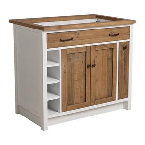 Meuble pour évier en bois recyclé blanc - Rivages - Visuel n°9