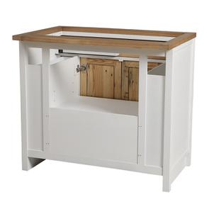 Meuble pour évier en bois recyclé blanc - Rivages - Visuel n°10