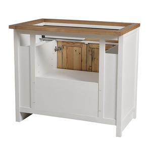 Meuble pour évier en bois recyclé blanc - Rivages - Visuel n°11
