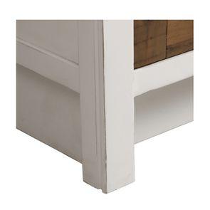 Casserolier 3 tiroirs en bois recyclé blanc - Rivages - Visuel n°17