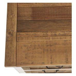 Casserolier 3 tiroirs en bois recyclé blanc - Rivages - Visuel n°18